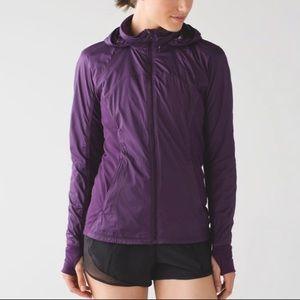 Lululemon Purple Rush Hour Zip Up Jacket